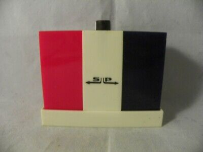 Vintage Red White and Blue Push Button Salt and Pepper Shakers