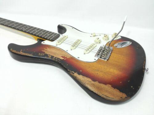 Haze STH Relic Strat. Guitar-Sunburst,Solid Mahogany Body,Rosewood Fretboard+Bag