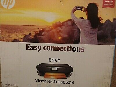 HP Envy 5014 All-In-One Printer (Print, Scan, Copy) Wireless Wi-Fi AirPrint NEW