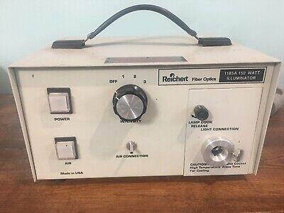 Reichert Jung Fiber Optics Illuminator Light Source 150w Model 1185a