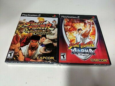 Street Fighter Aniversario Colección + Alpha Anthology PLAYSTATION 2 , PS2 Nuevo