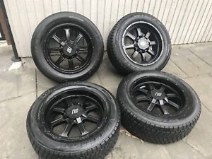 "FRD 20"" rims with triangle snow tires"
