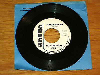 """PROMO BLUES 45 RPM - HOWLIN' WOLF - CHESS 1804 - """"SHAKE FOR ME"""" + """"RED ROOSTER"""""""