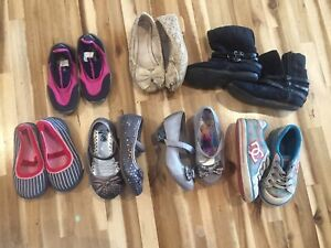 Girls 7t shoe and boot lot