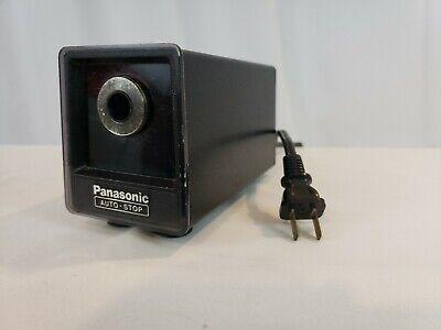 Vintage Panasonic Kp-77s Electric Pencil Sharpener Auto Stop - Black - Free Ship