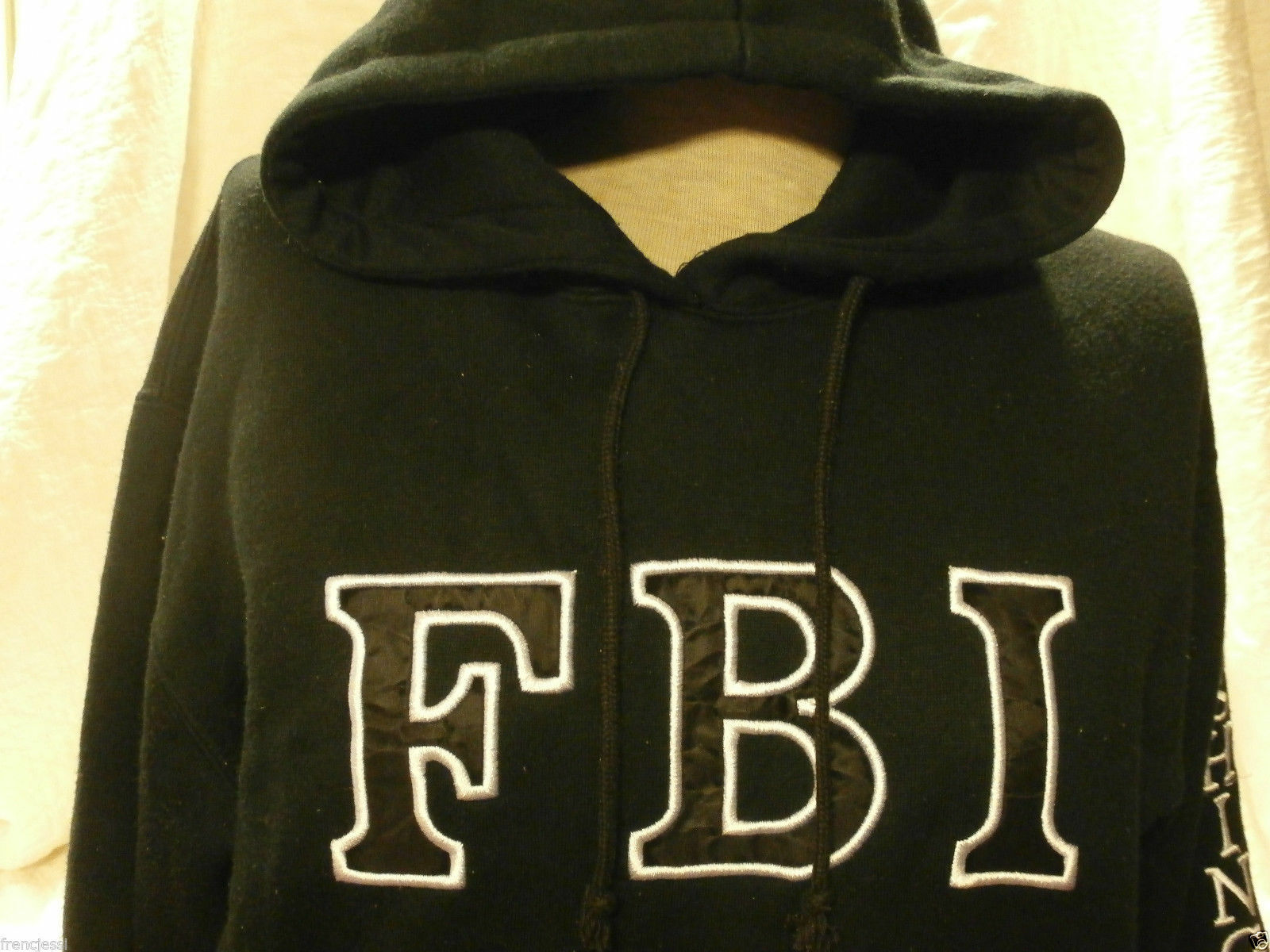 FBI Washington DC SWEATSHIRT SOFT THICK HOODIE SMALL Non-Zipper BLACK UNISEX