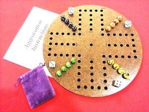 Aggravation, Wahoo wa hoo board game 4 player with felt backing, Wood, engraved