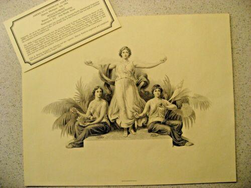 American Numismatics Association July 1994 Intaglio Print - 1915 SF PPIE Worlds