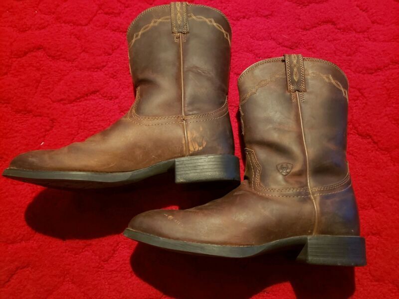 MENS, ARIAT, HERITAGE, ROPER, COWBOY, BOOTS!, 10002284(35525), DISTRESSED, BROWN!,