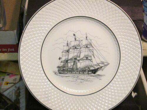 "Spode CHARLES W MORGAN AT MYSTIC SEAPORT Collector Plate 10 3/4"" Sailing Ship"