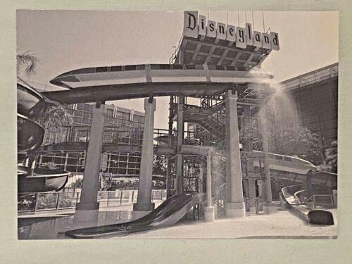 Disney Disneyland Resort  Hotel Postcard  Walt Monorail Pool Water Slide 5x7
