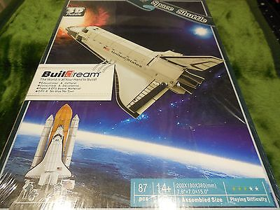 Buildream 3D Puzzle Jigsaw Space Shuttle Collectible 87 Pcs No Glue  No Tool New