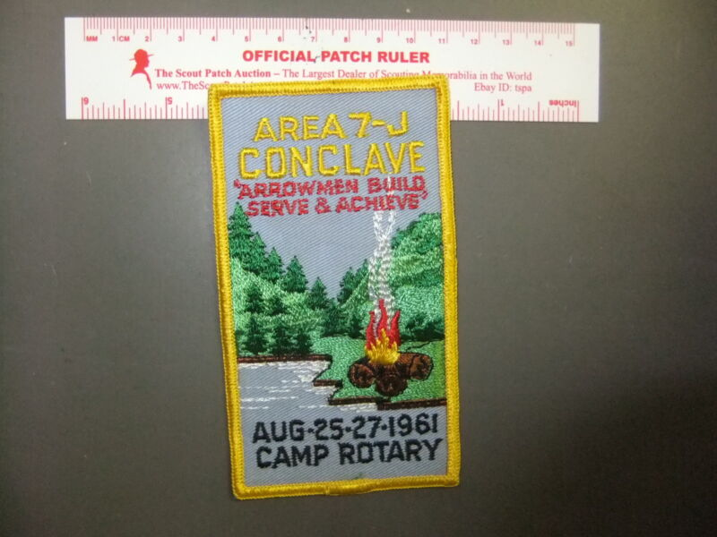 Boy Scout OA Area 7-J 1961 Conclave Camp Rotary 5853FF