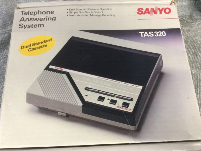 Vintage Sanyo TAS320 Dual Standard Cassette Telephone Answering System