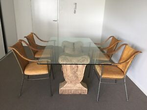 Premium glass dining room table