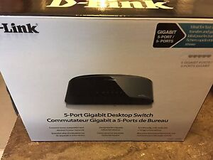 D Link 5Port Desktop Switch