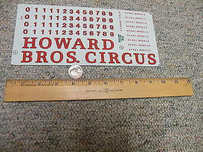 Herald King decals Large Scale G S O  Gauge Howard Bros. Circus   P10
