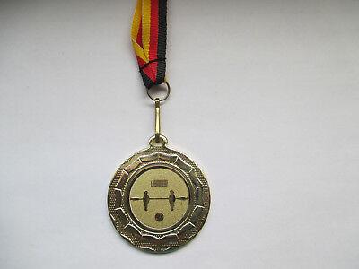 e277 Medaillen Kicker Pokal Kids Medaillen 3er Set mit Band&Emblem Turnier Tischfußball