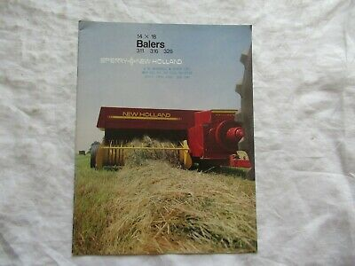 1984 Sperry New Holland 311 316 326 Balers 14 X 16 Brochure