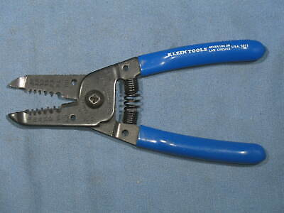 Klein Tools Wire Stripper Cutter 1011 10-20 Awg .80 - 2.6 Mm Made In Usa