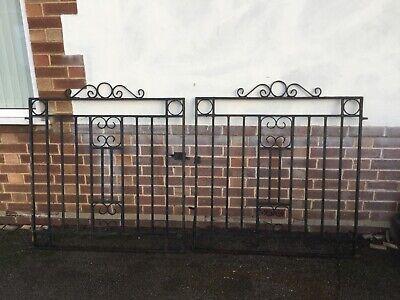 Vintage Wrought Iron Driveway Gates location March Cambridgeshire