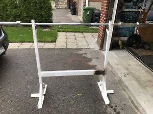 Bench press/ squat rack - heavy duty