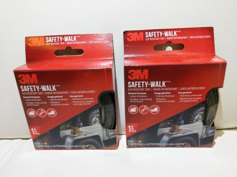 "2 pack 3M Safety Walk Slip Resistant Tape Strip 1"" x 15 Ft Self-Stick Indoor/Out"