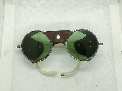 Vintage Sunglasses bikers Pilot Goggles WWII US Military Steampunk Green Lenses (Vintage Military Sunglasses)