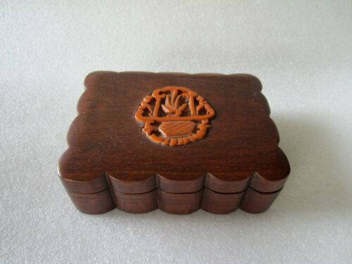 Original Antique Chinese Qing Dynasty Hand Carved Bamboo Scholar Tool Lidded Box
