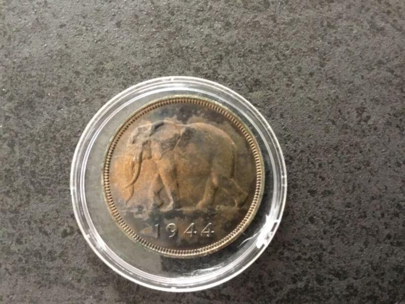 Pièce 50 francs Congo belge 1944