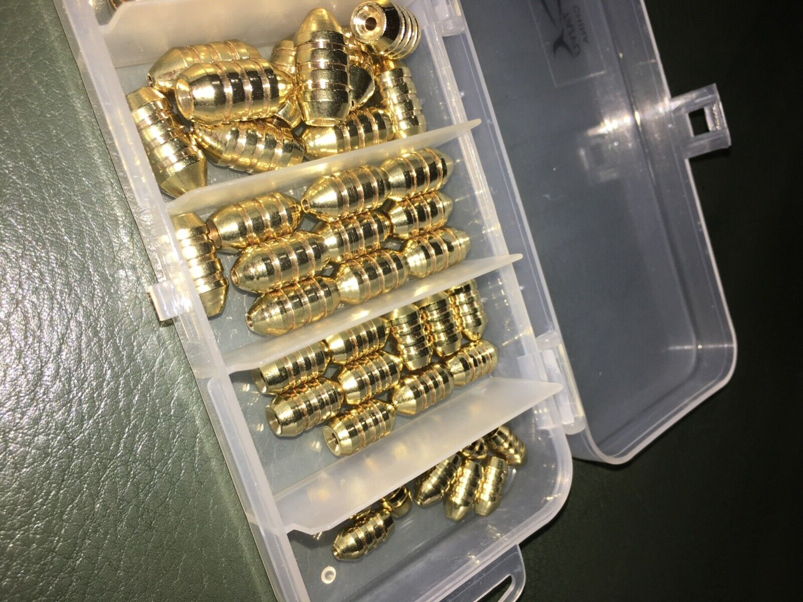 50 Count NEW, UN-USED High-quality Brass Fishing Weights 1.8-10g - NO RESERVE  - $9.00