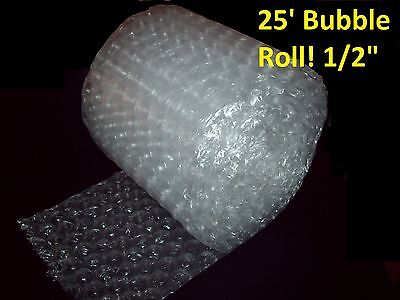 """25 Foot LARGE Bubble Wrap® Roll 12"""" Wide! 1/2"""" Bubbles! Perforated Every Foot"""