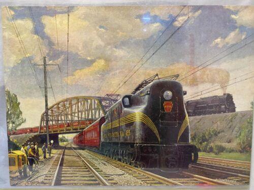 "Original Vintage ""Main Lines-Freight & Passenger Print"" 1948 by Griff Teller"