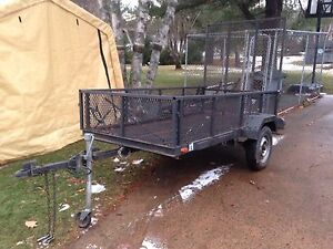 Utility trailer with Drop Down tailgate