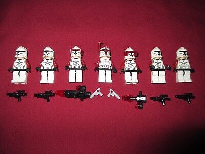 LEGO Star Wars Minifigures LOT Sargent,  Clone Troopers Lot  ,Weapons