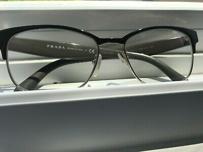 PRADA Women's BROWN / GOLD Cats Eye Rx Eyeglasses Frames VPR 65R 53016 DHO 101
