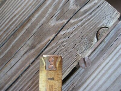 "Vintage * #14 Gauge x 2 1/2"" Length * Slotted Flat-Head Wood Screw Lot of 4 USA"