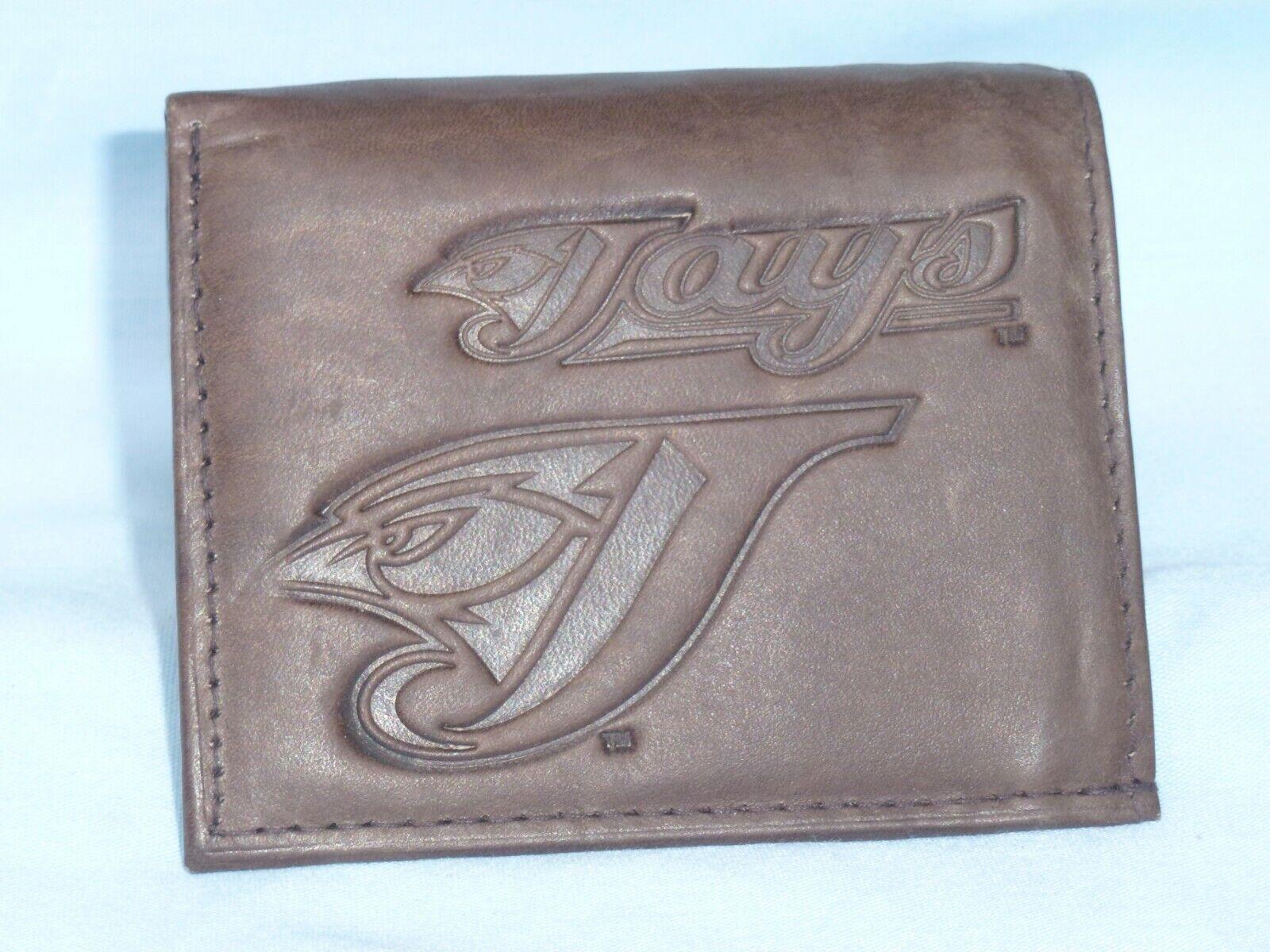 TORONTO BLUE JAYS  Leather TriFold Wallet     NEW   dark bro