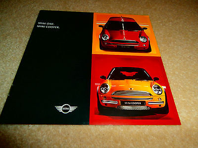 Mini Hatchback 2001 UK Market Specification Brochure One Cooper.  Mint condition