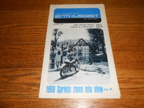 "OCTOBER 1967 HARLEY-DAVIDSON ""THE ENTHUSIAST"" MOTORCYCLE MAGAZINE / 1968 SPRINTS"