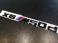 Schwarz Chrom 4x4 Abzeichen Metall Emblem für BMW M5 M6 X1 X2 X3 X4 X5 X6 M SUV