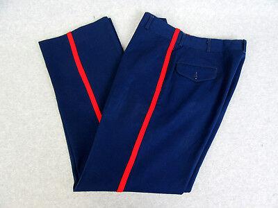 USMC US Marine Corps Sz 25R 25 x 30 NCO Dress Blues Blood Stripe Trousers Pants