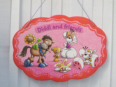 Diddl Diddlina rigid ceiling or wall cardboard sign - 70cm x 50cm indoors - Used