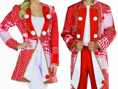 Kostüm Frack rot/weiß Kölnjacke Elferrat Patchworkoptik Uniform Karneval - Roter Frack Kostüm