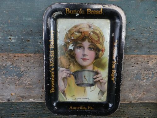 old victorian advertising  tray bowmans model bakery annville pa