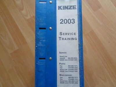 Massive Kinze Service Operators Parts Manuals 3000-3700 Planters Wagons 2003