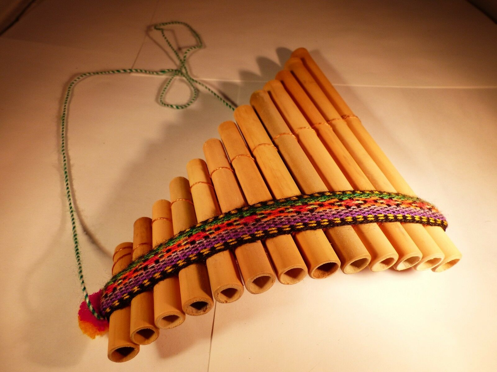 Купить Curved Pan Flute Antara Bamboo 13 Pipe BEST DEAL Top Selling Siku Flauta