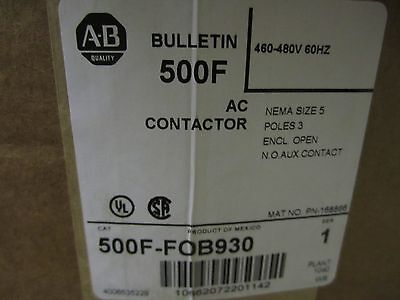 New In Box Allen Bradley 500f-fob930 Contactor Motor Load Size 5