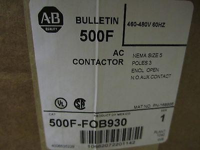 New In Box Allen Bradley 500f-fob930 Contactor Motor Load Size 5