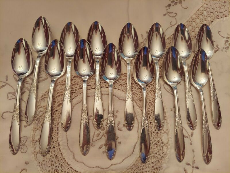 14 teaspoon National KING EDWARD silver plate silverplate